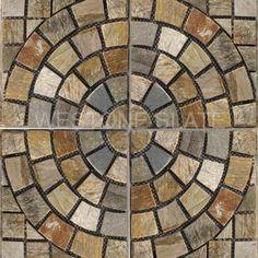 golden white slate meshed tile