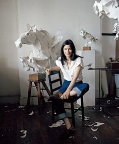 Wonderful paper horse sculptures by Anna Wili Highfield