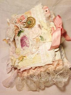 Shabby Chic - Victorian Handmade Fabric Book - Journal Vintage - Vintage Nest…