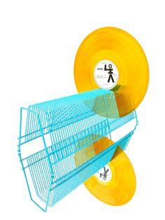 MCM Turquoise Metal Record Rack || 62 Slot Vinyl Lp Storage Rack by ELECTRICmarigold on Etsy