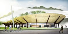 We Are You Unveils Sweeping Green Cycling Center for Gothenburg | Inhabitat - Sustainable Design Innovation, Eco Architecture, Green Building