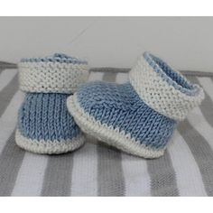 Baby 2 Colour Booties Knitting Pattern at Makerist Baby Booties Knitting Pattern, Kids Knitting Patterns, Christmas Knitting Patterns, Knitting For Kids, Baby Patterns, Free Knitting, Knitted Baby Boots, Crochet Baby Booties, Baby Bootees