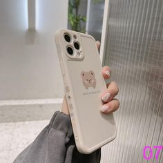 Bear Astronaut Phone Case For iPhone 11 12 Mini Pro Max X XR XS Max 8 7 plus SE Soft Silicine Side pattern Back Cover