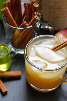 whiskey sour - This festive take on the classic whiskey sour cocktail is perfect for the fall season with the addition of spiked apple cider and a homemade cinnam...