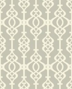 Balustrade Opal (950602) - Sophie Conran Wallpapers - A beautiful, intricate symmetrical trellis pattern with a pearlescent/lustre sand effect texture - shown here in the cream on grey colourway.