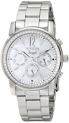 Invicta Women's 11768 Angel Crystal Accented Mother-Of-Pearl Dial Stainless Steel Watch Invicta http://www.amazon.com/dp/B006N8LQFG/ref=cm_sw_r_pi_dp_.k8rvb0HGY608