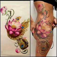 Awesome floral side hip..butt..rib piece!!