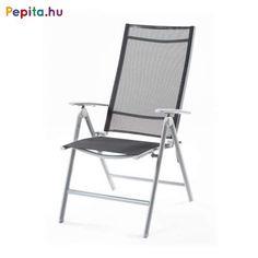 A porszórással bevont alumínium vázzal készült RAUL karosszék tökéletes kényelmet biztosít a hétféle pozícióba való állíthatóságával. Az ülőrészt és a háttámlát minőségi 1x1-es kivitelű textilén szövet borítja.    Jellemzők:  - Súly: 4,2kg  - Méretek: 67 x 58 x 112cm Outdoor Chairs, Outdoor Furniture, Outdoor Decor, Folding Chair, Home Decor, Homemade Home Decor, Garden Chairs, Folding Stool, Decoration Home