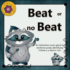 Help your elementary music students understand steady beat? Your classes will love this interactive music game which reinforces if there is a beat or not. Engaging music education resource.
