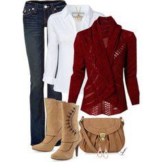 Red Crochet Cardigan