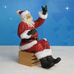 "Sitting Santa 60"" scale-This Santa goes with Large Sleigh. http://www.christmasnightinc.com/c263/Sitting-Santa-60-scale-p1384.html#  Call 1 (888) 900-2070 for a shipping quote. $659.00"