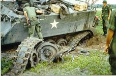 """M113 APC damaged by a mine, 1967"" , was the original caption. Hell !! , that looks destroyed !!"