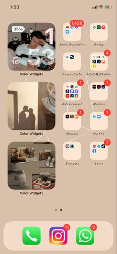 Homescreen, Ios, Organization, Iphone Wallpapers, Display, Getting Organized, Organisation, Tejidos