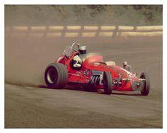 Mario Andretti's (#1) USAC Dirt Champ Car at the Sacramento 100 - 1970