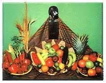 """Kwanzaa literally means """"first fruits,"""" which explains the importance of including fresh fruits into the celebration of the festivities. Fruits play an especially important part in the celebration of Karuma, the sixth night of Kwanzaa, on December 31. On this day, fruits are part of the centerpiece and integral to the decoration of the table and even the room where the celebration will take place.     eHow.com http://www.ehow.com/how_2061694_decorate-kwanzaa-fruit.html#ixzz2GHSRbxKc"""