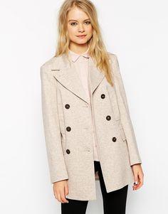 ASOS Summer Pea Coat In Texture