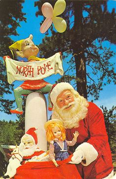 A postcard from Santa's Village (located here in SoCal). It is postmarked 1963