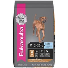 EUKANUBA Adult Large Breed Lamb and Rice Formula Dog Food 30 Pounds - Large and giant breed dogs have special nutritional needs — not just for their size, but also for their appetites. EUKANUBA Adult Large Breed Dog Food, made with real lamb as the first ingredient, is formulated with natural sources of glucosamine and chondroitin sulfate to help support joint heal...
