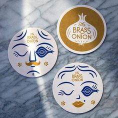 One of my favorite applications from our new Brass Onion identity is the bar coasters, designed by myself and Full… Collateral Design, Brand Identity Design, Stationery Design, Brand Design, Inspiration Logo Design, Mode Inspiration, Typography Inspiration, Corporate Design, Corporate Branding