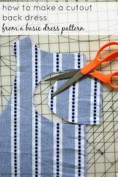 DIY cutout back dress tutorial - use your favorite pattern! - Adventures in Dressmaking