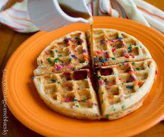 Chasing Some Blue Sky: Funfetti waffles