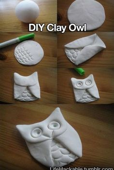 DIY clay owl.
