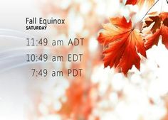 Saturday 22 2012 marks the official start to the fall season!