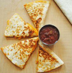 Simple and Quick Cheese Quesadillas   Recipe Treasure