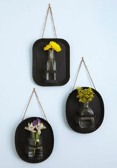Rustic Revolution Sconce Set. Though your tastes are timeless, this set of three black metal sconces innovates your space. #multi #modcloth