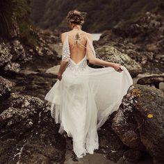 Rue de Seine low back wedding dress