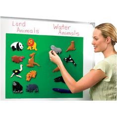 """Quick Stick® Instant Flannel Board, 20"""" x 27""""  Raise flannel-board activities to new heights with this magnetic-backed flannel board that quickly sticks to any metal surface including classroom whiteboards. Large 20"""" x 27"""" felt surface works with felt pieces and letters, plus you can extend the action from the flannel board out onto the whiteboard, incorporating spelling and math activities. Rolls up for easy storage. Put 2 together for a super-sized flannel board!"""