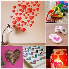 Ulike måter å pynte med hjerter på
