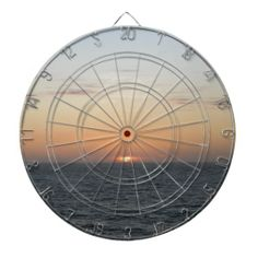 Calming Sunset Dartboards #calm #scenic #calm orange #sunset #dartboard #zazzle