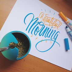 Beautiful morning #letter #lettering #calligraphy #caligrafia #letras #caligrafiaartistica #crayolamarkers #morning #beautiful #mate #amanoalzada #handletters #handletterschile #instaletter #brush_type