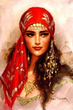 Beautiful painting of a gypsy!