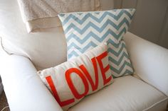 love the pillows:) maybe for the newly redone living room;)