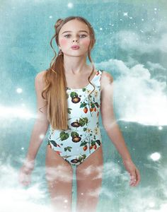 09523b9817 Exclusive Stella Cove floral print bathingsuit for girl made in europe from  UV50+ protective and highest