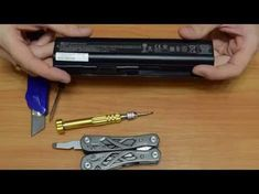 How to open laptop battery without destroying it. Disassembly laptop battery HP. - YouTube