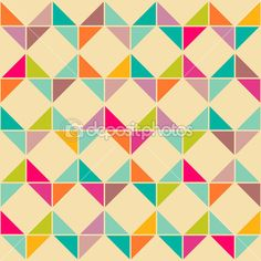Resumen retro inconsútil geometrico — Ilustración de stock #18306383