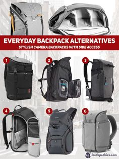 Best Peak Design Alternative - camera backpacks with side access to main compartment - Other brands like Peak Design Everyday Backpack - backpackies.com