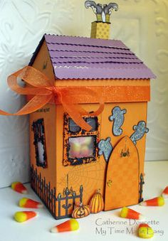Haunted House-This super sweet haunted house creation is a blast to make! This project uses the Shop Around Mega Template and products from www.mytimemadeeasy.com