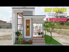 Modern Bungalow House, Small House Design, Garage Doors, Floor Plans, Flooring, Bedroom, Building, Outdoor Decor, Instagram