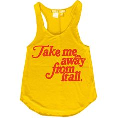 Womens   Bird Take Me Away From It All Words Quote Vintage Retro Boho... ($32) ❤ liked on Polyvore featuring tops, tanks, white, women's clothing, long racerback tank tops, racer back tank, white tank top, long tank e long racerback tank
