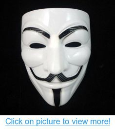 ANGRLY Smartoy V for Vendetta Mask Guy Fawkes Halloween Masquerade Party Face Adult Costume Accessory Macka Mascaras Anonymous V For Vendetta Film, V For Vendetta Costume, V Pour Vendetta, V For Vendetta Mask, Halloween Masquerade, Masquerade Party, Halloween Fancy Dress, Halloween Cosplay, Halloween Masks