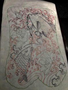 Tattoo Fish, Tattoo Japanese, Asian Tattoos, Japan Tattoo, Lunges, Tattos, Tattoo Designs, Oriental, Tattoo Art