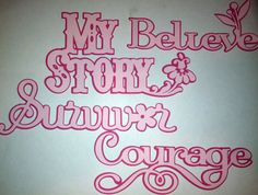 Pink Journey Pink Ribbon Breast Cancer Hope by InspiredbyLilyMarie, $4.00