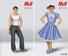 """Gender role reversal art"" - Jamie Vesta"