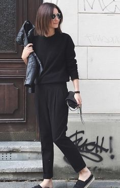 Golestaneh and an all Black Look.