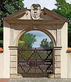 Primate's Gate in Łowicz with Pomian coat of arms of Primate Maciej Łubieński (1572-1652) was constructed in mannerist-early baroque style between 1641-1652 to design by Tomasz Poncino. © Marcin Latka #17thcentury #artinpl #architecture