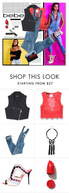 """""""All Laced Up for Spring with bebe: Contest Entry"""" by svijetlana ❤ liked on Polyvore featuring Bebe, American Eagle Outfitters, Sophia Webster, Chanel, NARS Cosmetics, Bobbi Brown Cosmetics and alllacedup"""